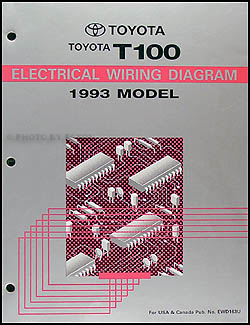 1993 Toyota T100 Truck Wiring Diagram Manual Original