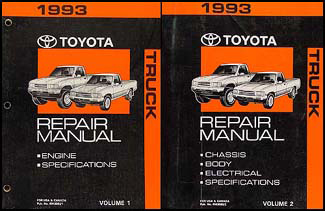 1993 Toyota Pickup Truck Wiring Diagram Manual Original