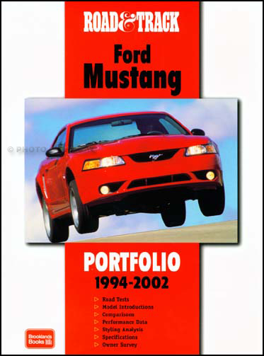1994-2002 Ford Mustang Road & Track Book of 41 Magazine Articles