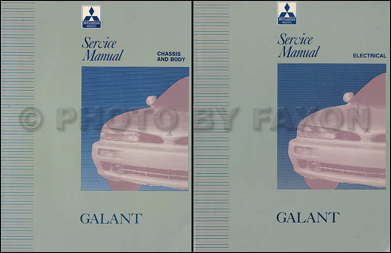 1994-1995 Mitsubishi Galant Repair Manual Set Original