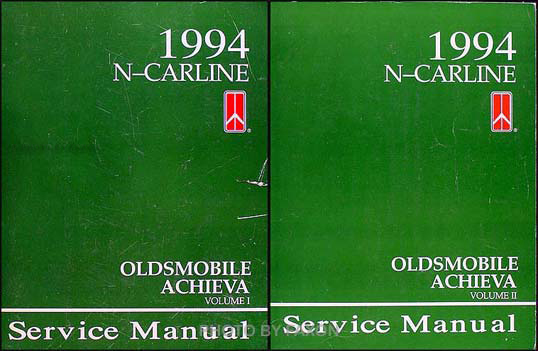 1994 Oldsmobile Achieva Shop Manual Original Set