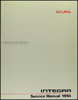 1994 Acura Integra Shop Manual Original