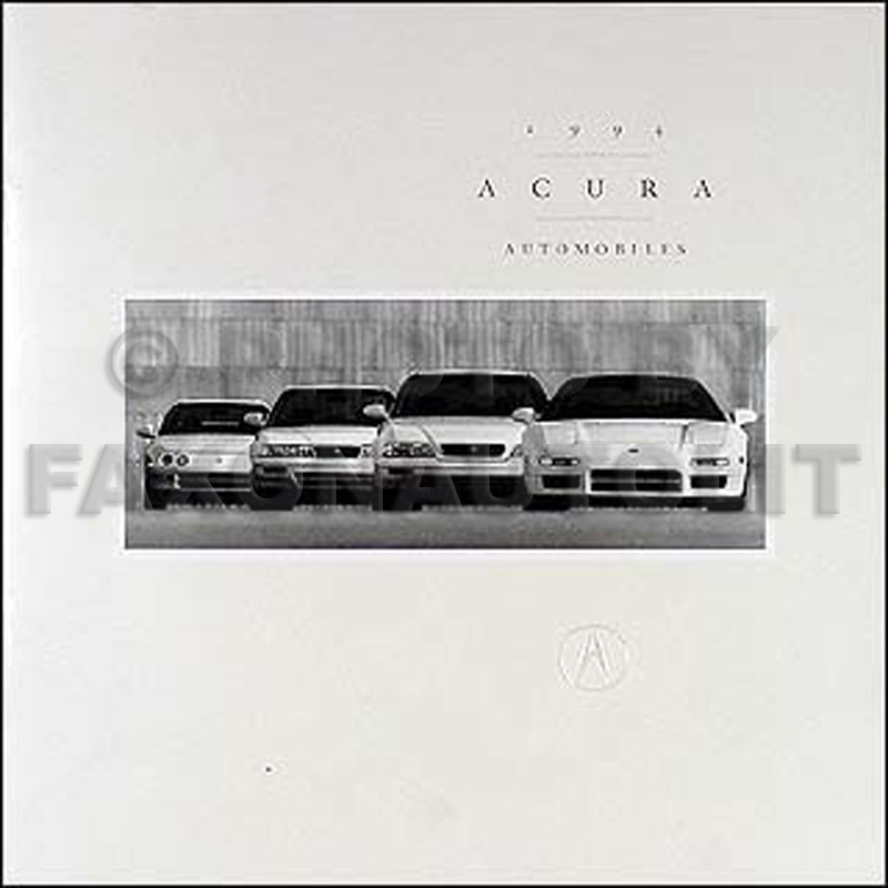 1994 Acura Original Sales Catalog 94 NSX/Legend/Vigor/Integra