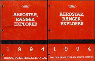 1994 Ford Aerostar Ranger and Explorer Repair Shop Manual Set Original