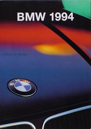 1994 BMW Sales Brochure Original--All Models