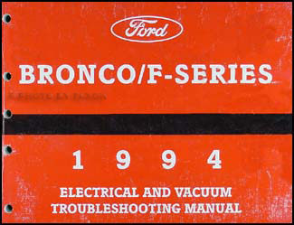 1994 Ford Bronco And Pickup Foldout Wiring Diagram Original F150 F250 F350 And Super Duty