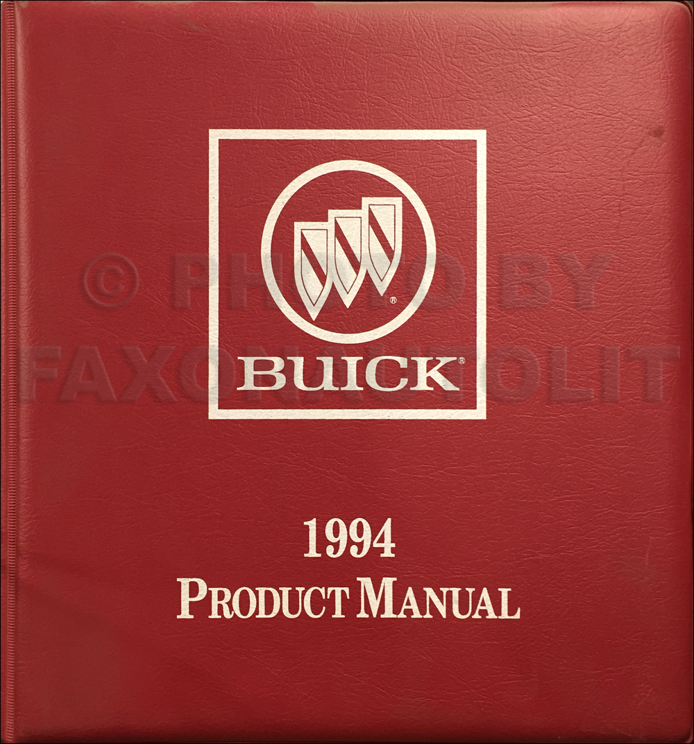 1994 Buick Color & Upholstery, Data Book Dealer Album Original
