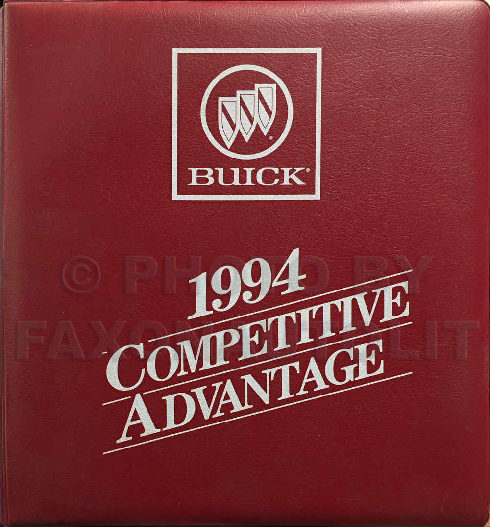 1994 Buick Competitive Comparison Dealer Album Original