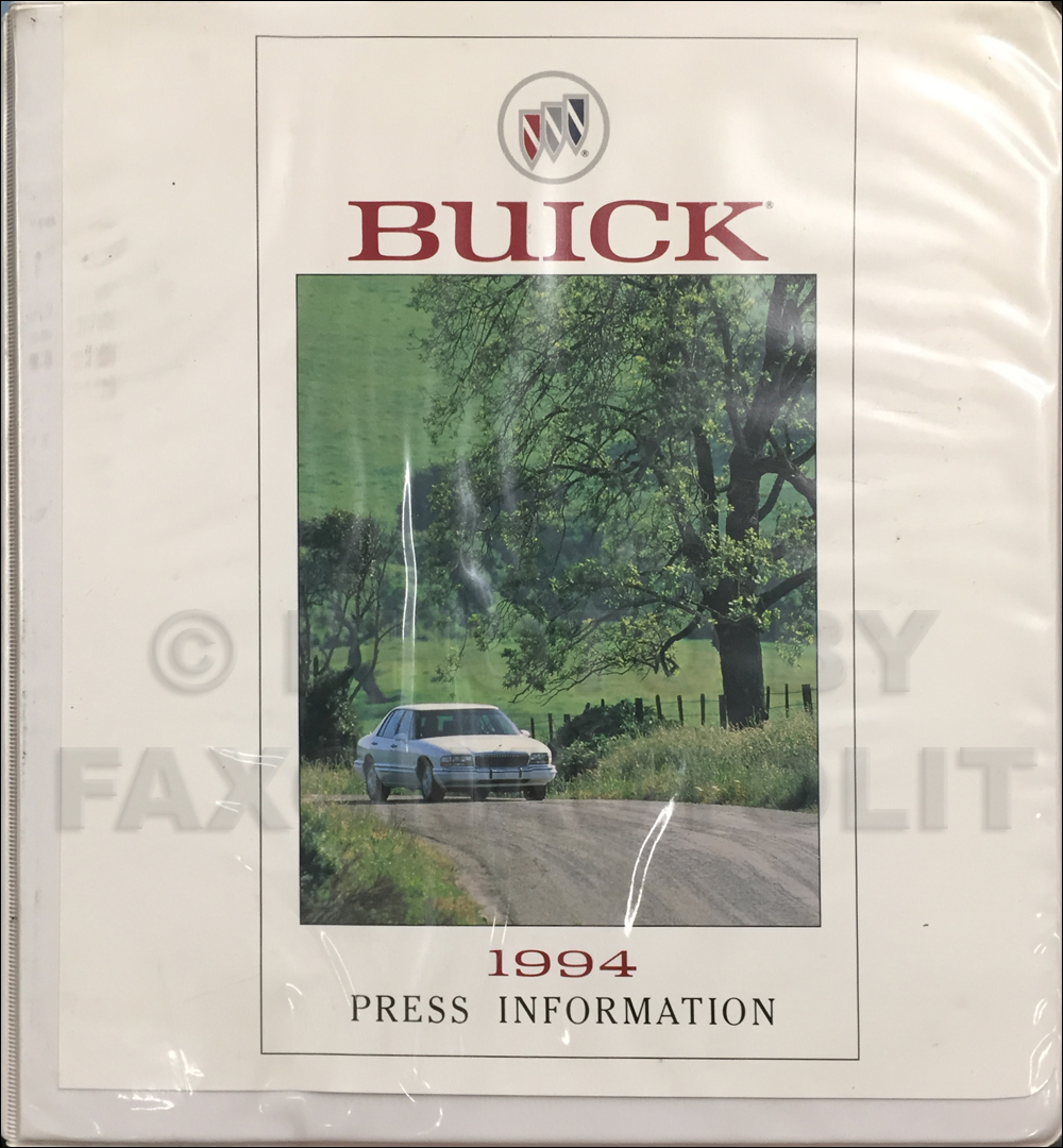 1994 Buick Press Portfolio With Photos Original