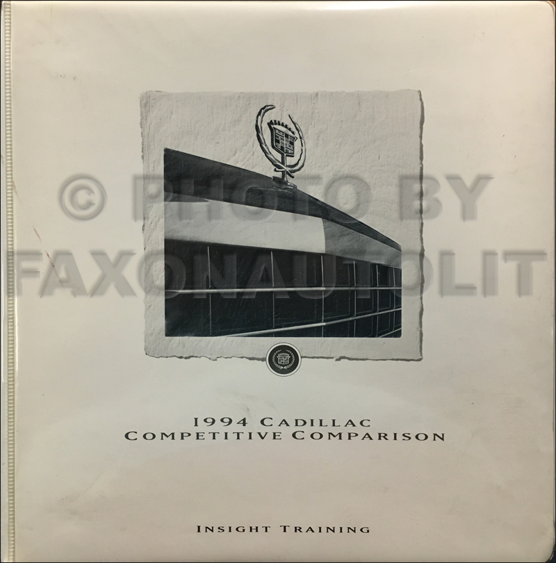 1994 Cadillac Competitive Comparison Guide Original Dealer Album