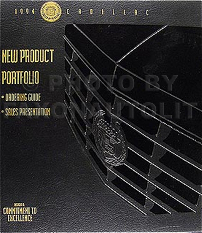 1994 Cadillac Product Portfolio - Data Book and Color & Upholstery Album