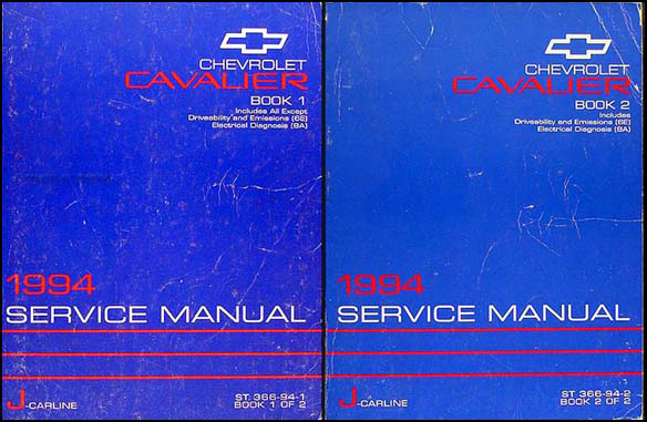 1994 Chevrolet Cavalier Shop Manual Original Set