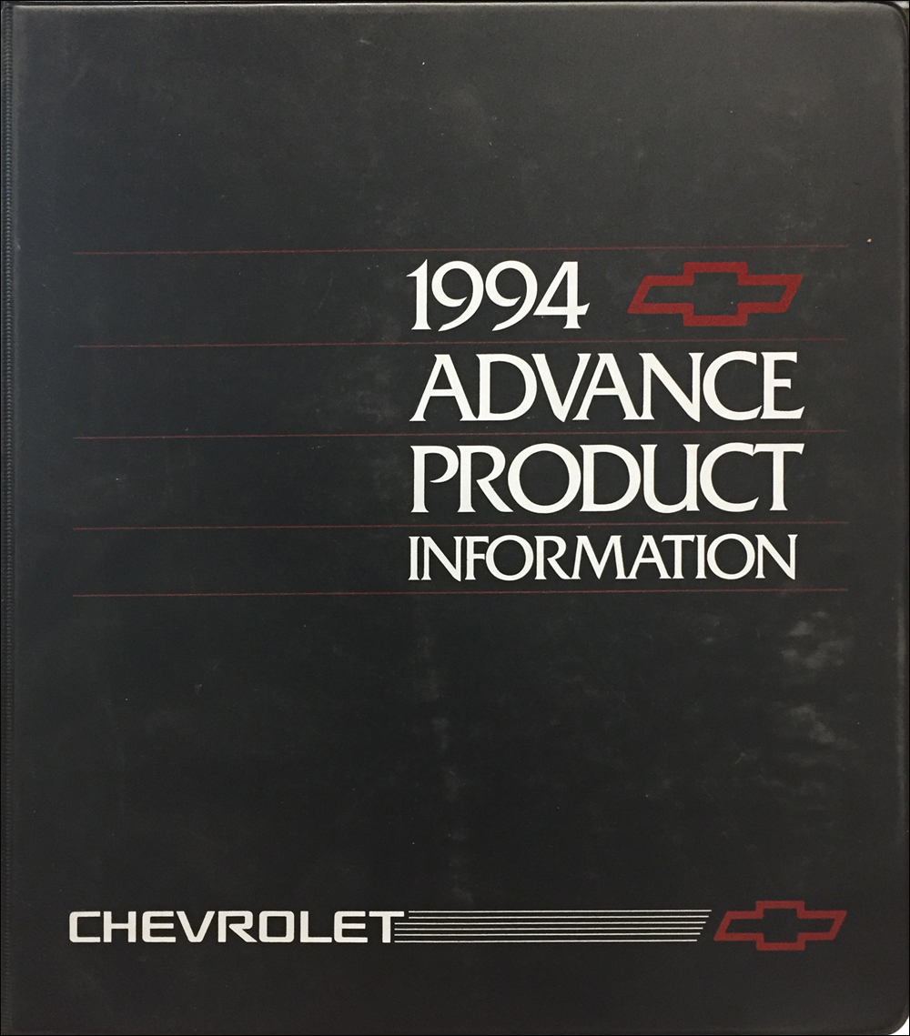 1994 Chevrolet Car Advance Technical Press Kit Original