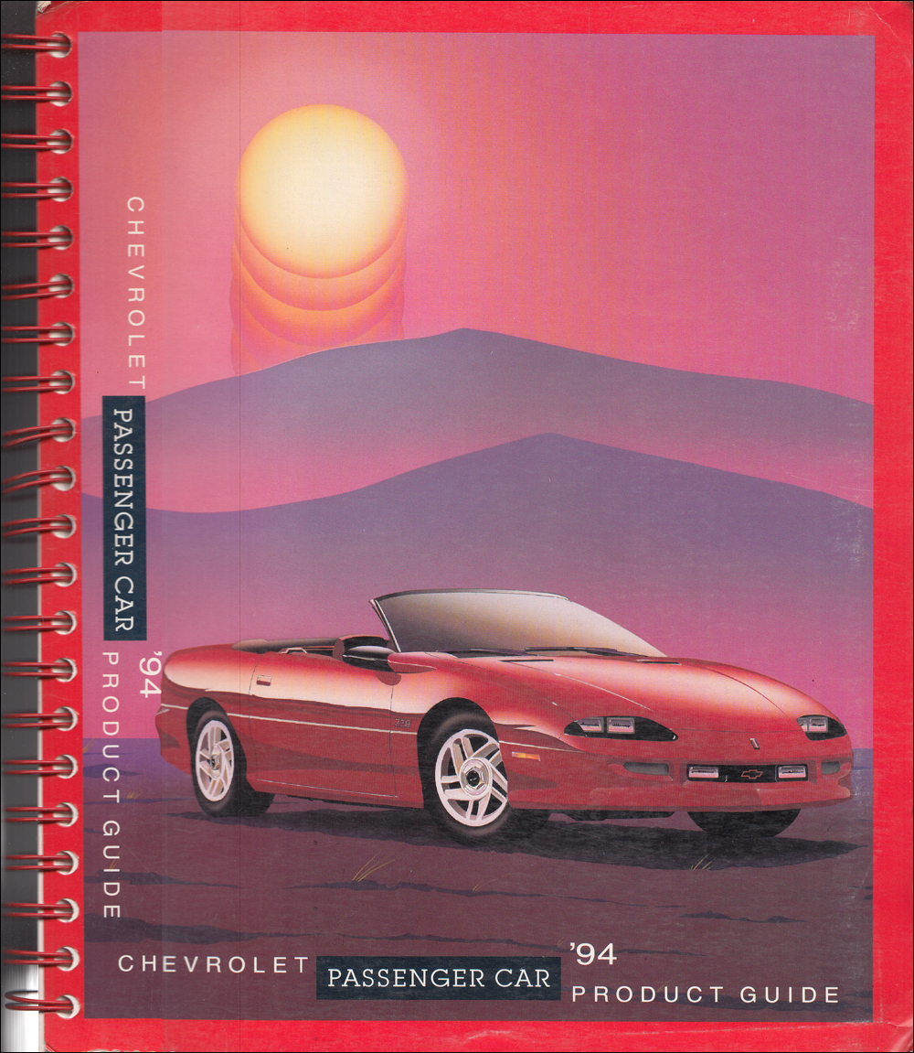 1994 Chevrolet Car Color & Upholstery Dealer Album/Data Book Original