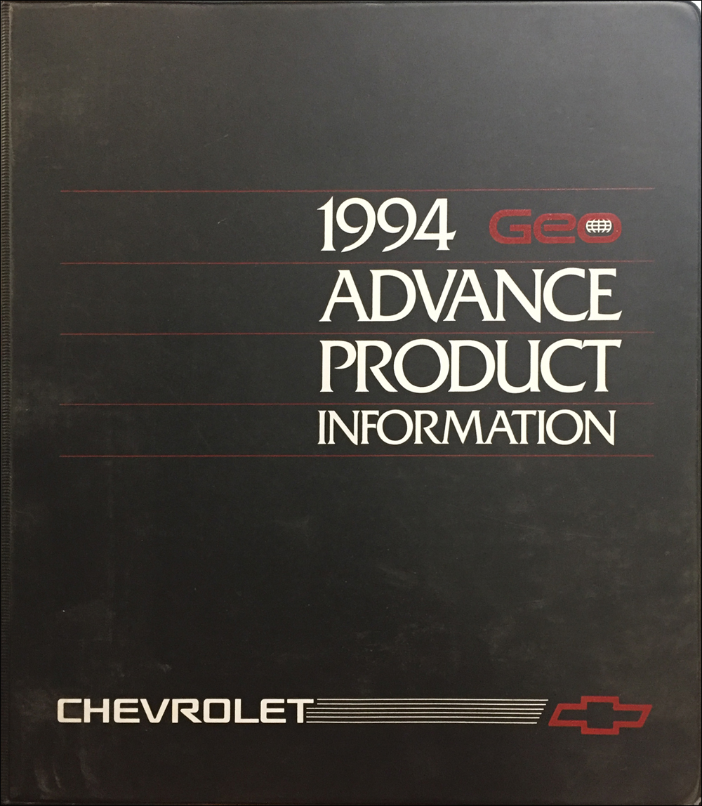 1994 Geo Advance Technical Press Kit Original