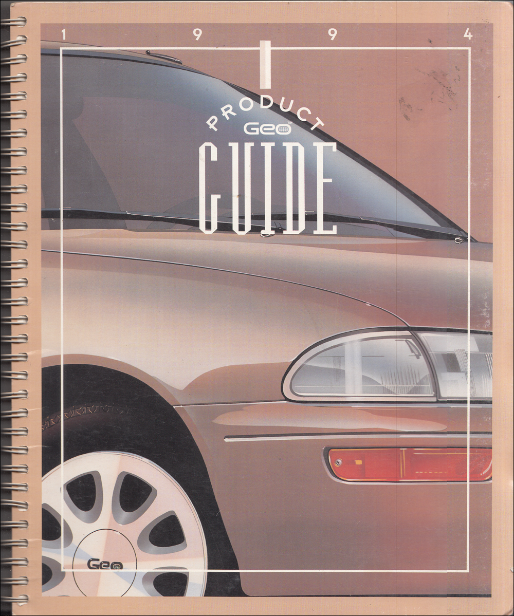 1994 Geo Color & Upholstery Dealer Album/Data Book Original