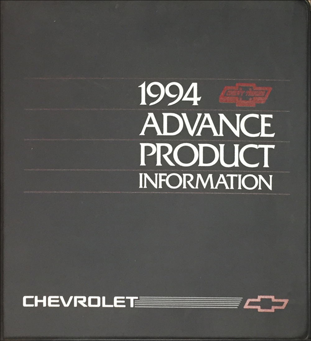 1994 Chevrolet Truck Advance Technical Press Kit Original