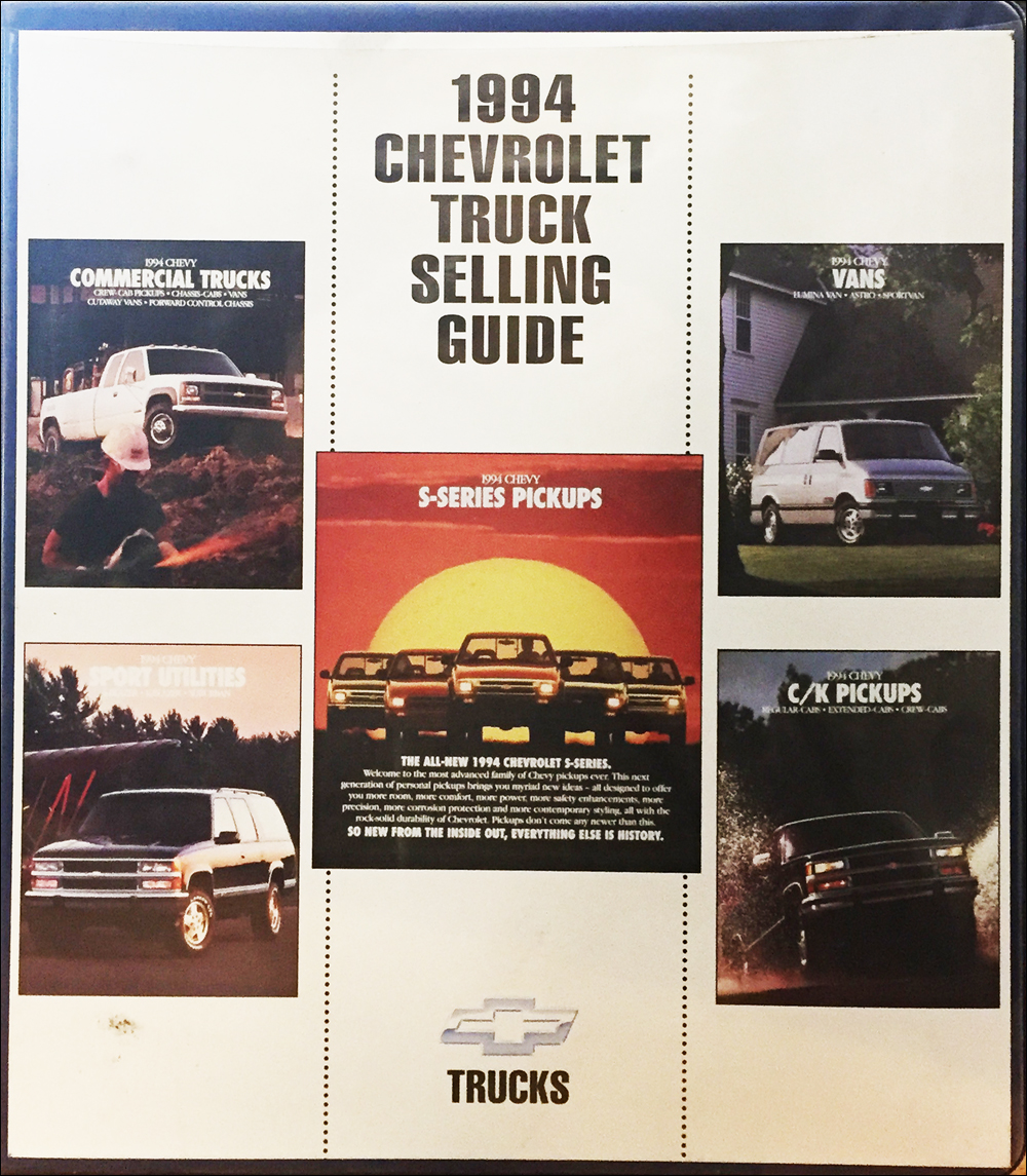 1994 Chevrolet Light Truck Data Book and Color and Upholstery Dealer Album Original Canadian