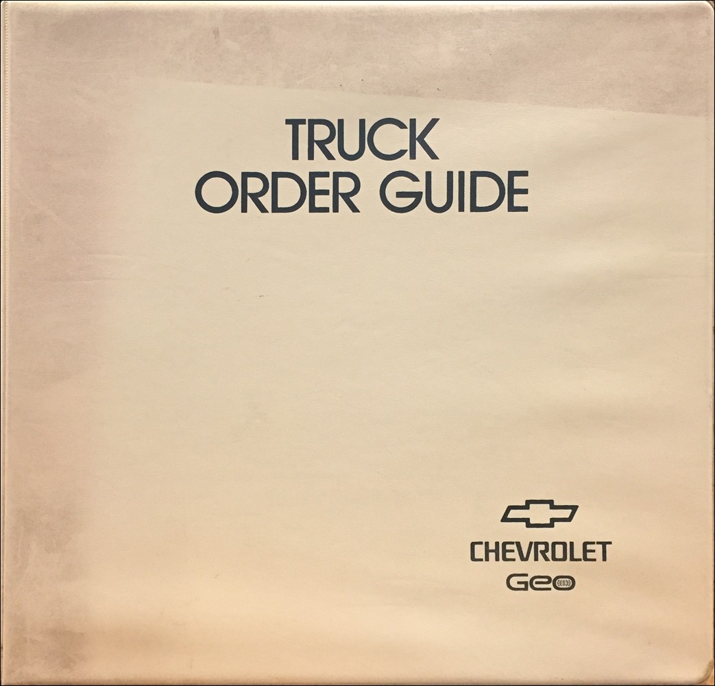 1994 Chevrolet Truck Order Guide Dealer Album Original