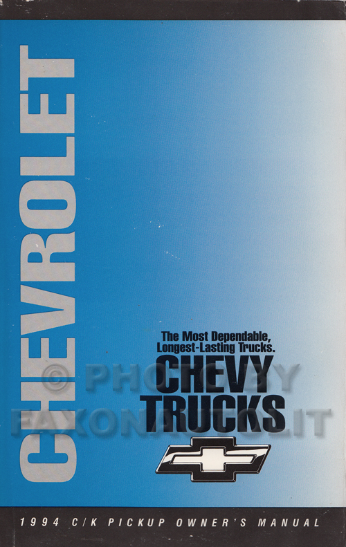 1994 Chevrolet C/K Pickup Truck Owner's Manual Original 1500-3500 Cheyenne Silverado WT