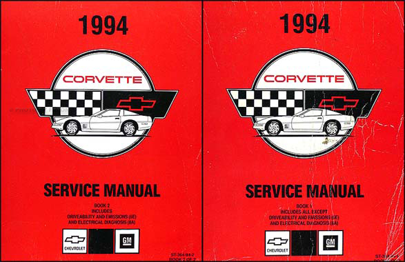 1994 Corvette Shop Manual Original Set, all models including ZR-1
