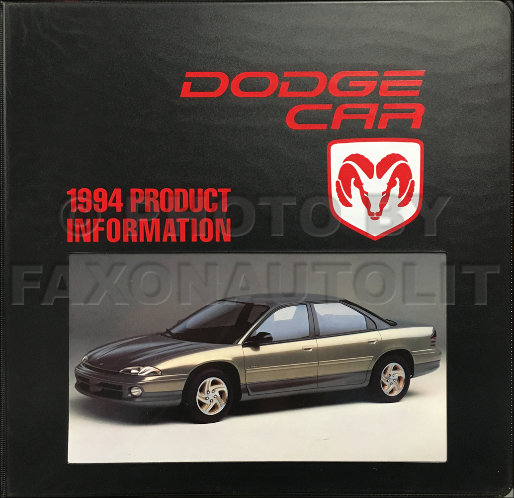 1994 Dodge Data Book and Color & Upholstery Dealer Album
