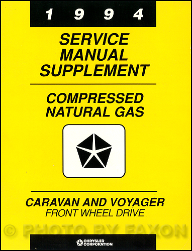 1994 Dodge Caravan & Voyager Compressed Natural Gas Repair Shop Manual Supp.