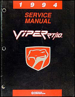 1994 Viper RT/10 Repair Manual Original