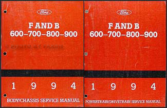 1994 Ford F & B 600 through 900 Medium/Heavy Truck Repair Shop Manual Set