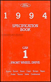 1994 Ford Lincoln Mercury FWD Car Service Specifications Book Original