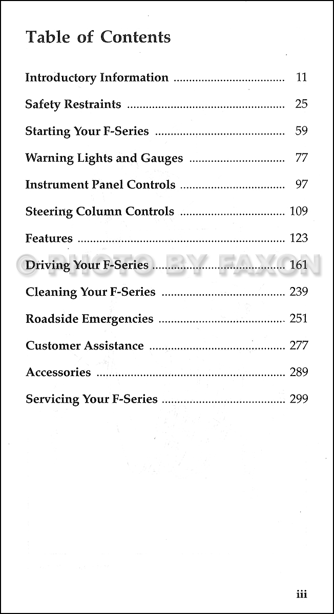 ford  series pickup truck owners manual original