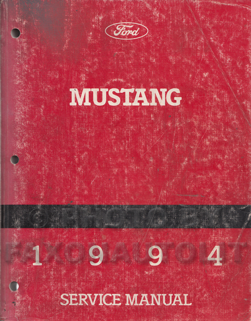 1994 Ford Mustang Shop Manual Original