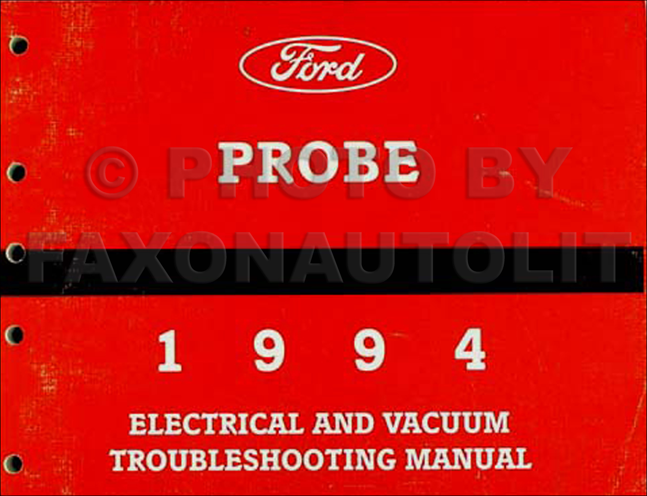Search 1994 Ford Aspire Fuse Box Probe Electrical Vacuum Troubleshooting Manual Original