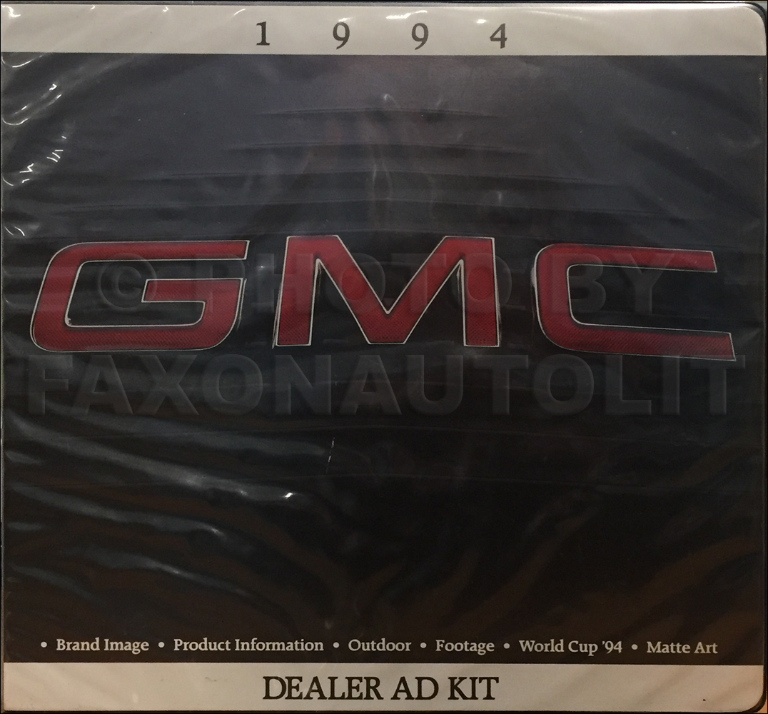 1994 GMC Dealer Advertising Planner Original
