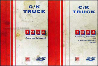 1994 C/K Truck Repair Shop Manual Original Set Pickup Suburban Yukon Blazer