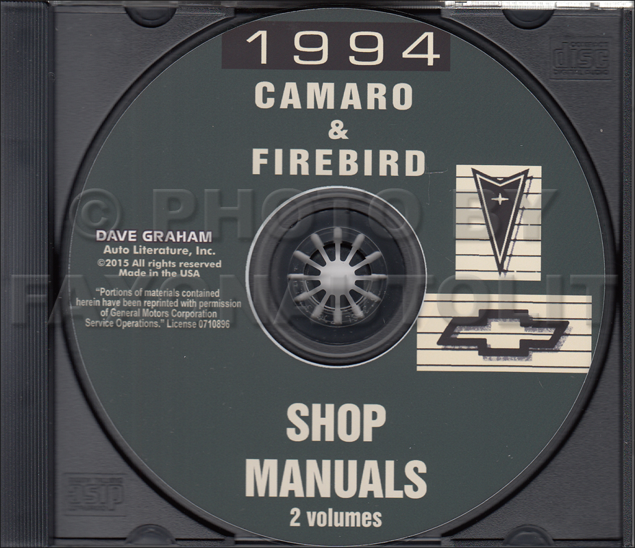 1994 Camaro  Firebird   U0026 Trans Am Repair Shop Manual 2