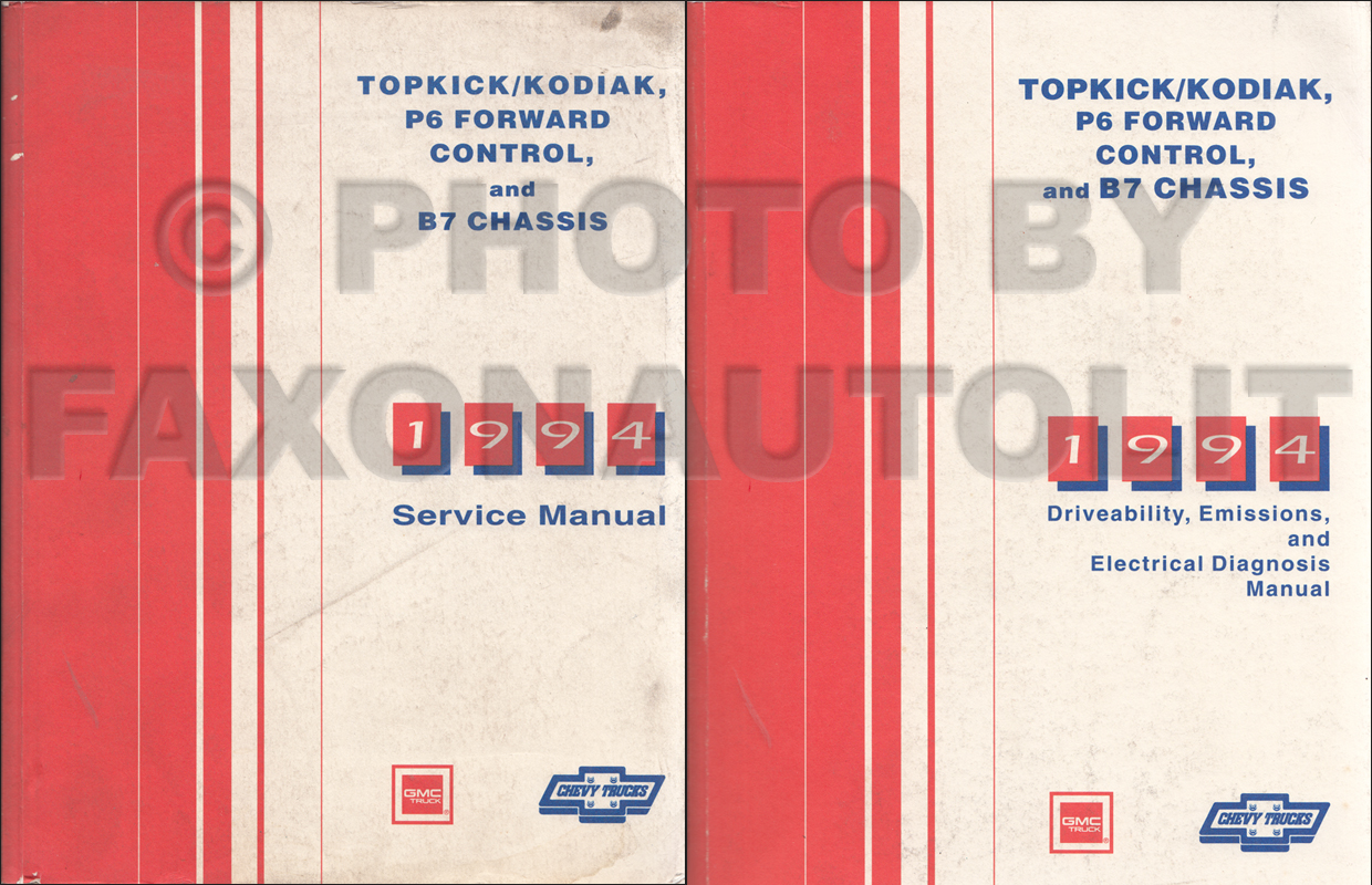 1994 Topkick, Kodiak, B7, P6 Truck Repair Manual Original 2 Volume Set