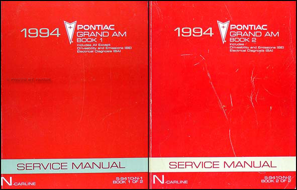 1994 Pontiac Grand Am Shop Manual Original Set
