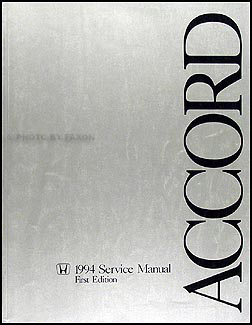 1994 Honda Accord Repair Manual Original
