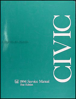 1994 Honda Civic Repair Manual Original