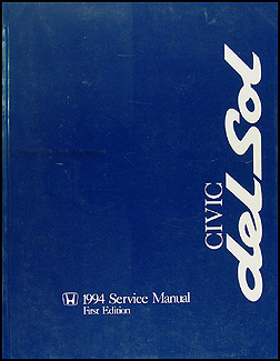 1994 Honda Civic del Sol Repair Manual Original