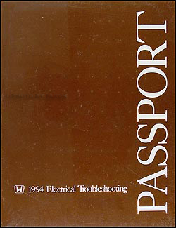 1994 Honda Passport Electrical Troubleshooting Manual Original