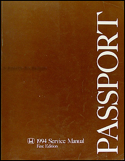1994 Honda Passport Repair Manual Original