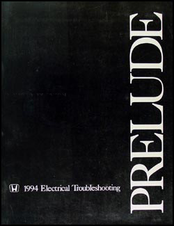 1994 Honda Prelude Electrical Troubleshooting Manual Original