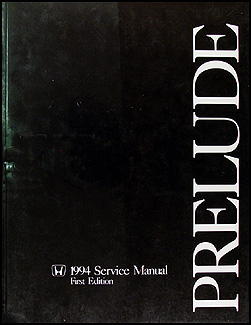1994 Honda Prelude Repair Manual Original