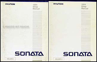 1994 Hyundai Sonata Shop Manual Original 2 Volume Set