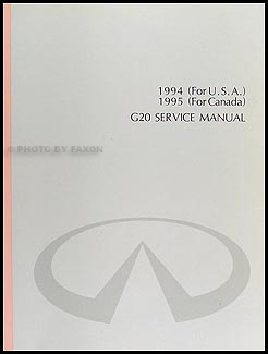 1994 Infiniti G20 Repair Manual Original