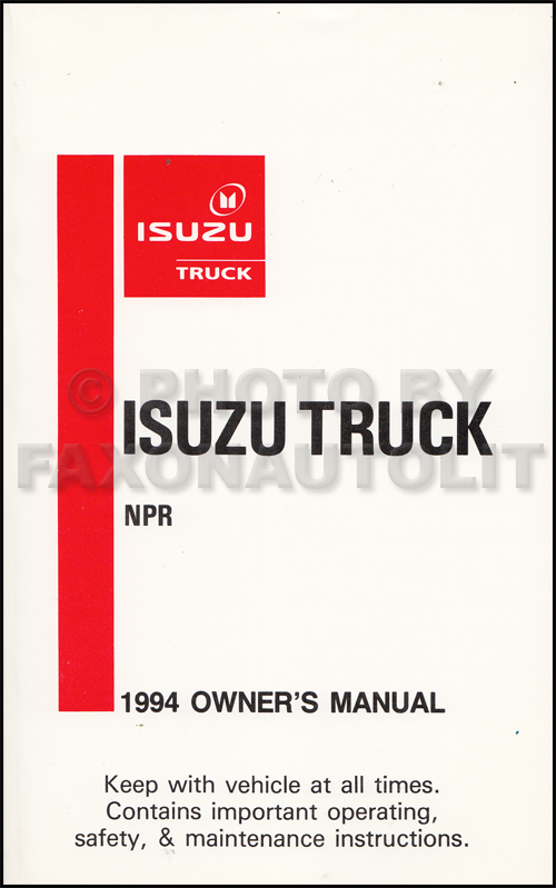 1994 Isuzu NPR Diesel Truck Owner's Manual Original