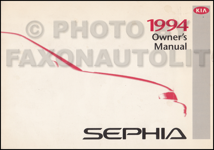 1994 Kia Sephia Owners Manual Original
