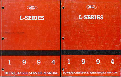 1994 Ford L-Series 7000-9000 Repair Shop Manual Original 2 Volume Set